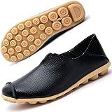 Gaatpot Damen Schuhe Mokassins Leder Bootsschuhe Loafers Fahren Flache Casual Freizeitschuhe Hausschuhe Sommer Schuhe 35-44