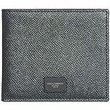 Dolce & Gabbana Herren Echtleder Geldbörse Geldtasche Geldbeutel Bifold Grau