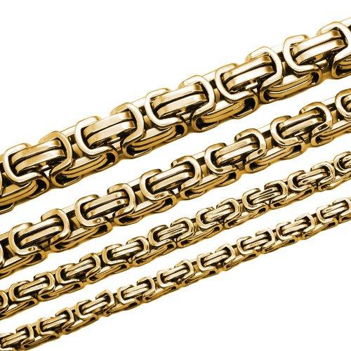 Soul-Cats® Königskette Armband aus Edelstahl in gold, Länge: 22 cm, Stärke: 6 mm
