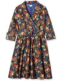 Lindy Bop Vivi Dark Blue Floral, Robe Femme