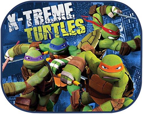 Sonnenschutz Disney Ninja Turtles 2 Stück 44cmx35cm universal Seitenscheiben
