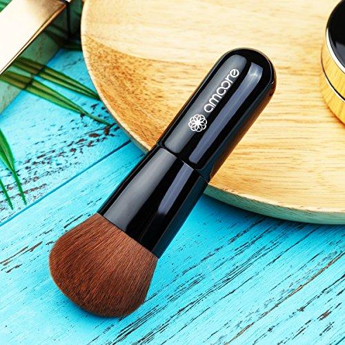 Make up Brush, amoore Makeup Brush Foundation Brush Powder Brush Concealer Brush Kabuki Brush (1 Pcs, Black)