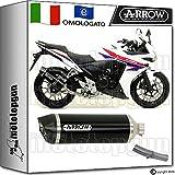 Arrow Kit Auspuff Hom Racetech Aluminium Dark Carby Honda CBR 500-r 20151571804AKN + 71480Ich