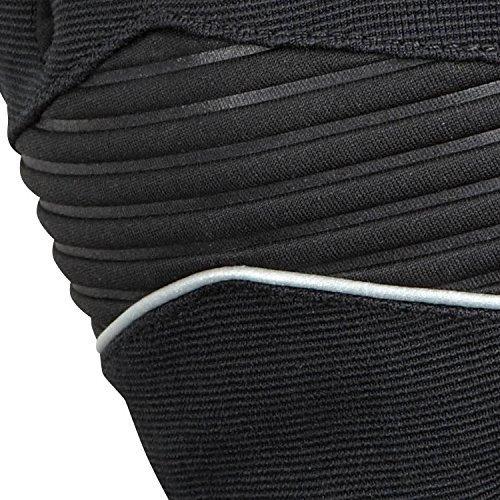 Elite Cycling Project Gants de cyclisme imperméables et coupe-vent (Grip en las palmas de silicone), couleur noir noir