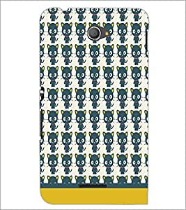 PrintDhaba Kitty pattern D-1765 Back Case Cover for SONY XPERIA E4 (Multi-Coloured)