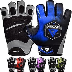 RDX Fitness Handschuhe Trainingshandschuhe Handgelenkschutz Gewichtheben krafttraining Sporthandschuhe Bodybuilding Workout Gym Gloves (MEHRWEG)