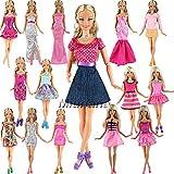 Miunana 5 St Hochzeit Fashionistas Ballkleid Abendkleid Kleidung Kleider Cocktailkleid Minikleid für Barbie Puppen Doll