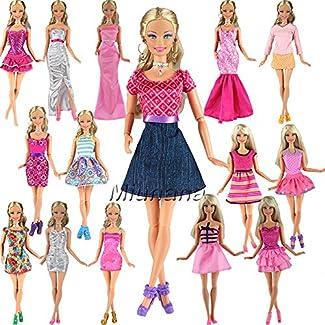Miunana 5 Robes Pour Barbie de Livraison Aléatoire