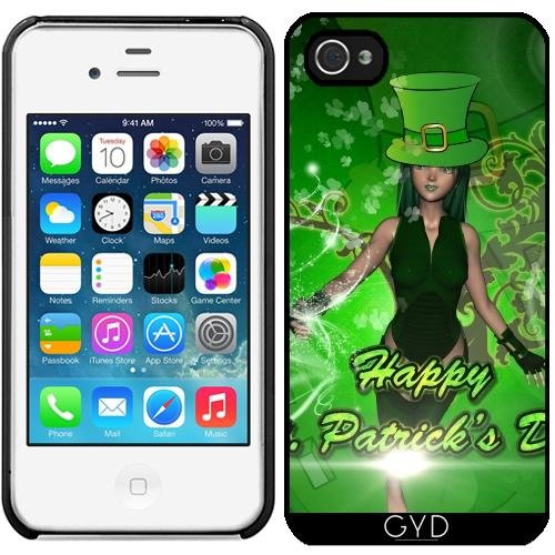 Leder Flip Case Tasche Hülle für Apple iPhone 6 Plus / 6S Plus - Happy St. Patrick Tag by nicky2342 Starre Kunststoff