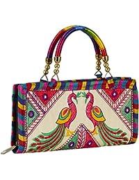 GiftingTree Handmade Designer Rajasthani Printed Etnnic Clutch Bag For Women's