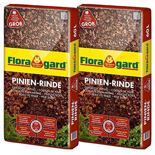 Floragard Mulch Pinienrinde 25-40 mm 2 x 60 L, grob