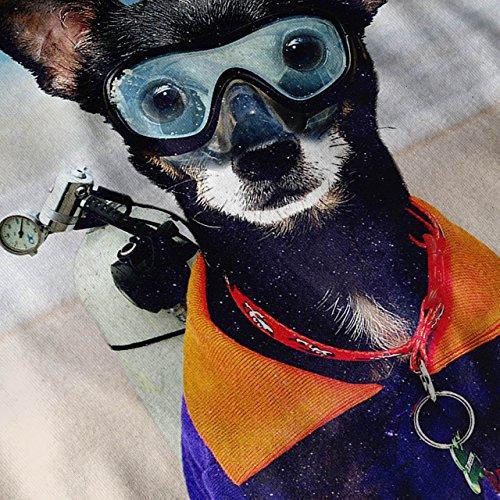 Komisch Niedlich Hund Meer Tier Wasser Taucher Damen S-2XL Muskelshirt | Wellcoda Grau