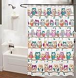 J&DUS 3D duschvorhang Lebendige Singt Wasserdicht Bad Vorhang mit kunststoffhaken, Anti schimmel Bath Vorhang Für Zuhause Hotel-A 180x200cm(71x79inch)