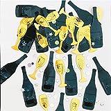 amscan Silvester Konfetti Cheers Party-Deko schwarz-Gold 14g Einheitsgröße
