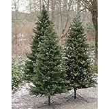 Künstlicher Christbaum KASPAR mit Lichterkette, gemischt, 210cm, Ø 120cm - künstlicher Weihnachtsbaum