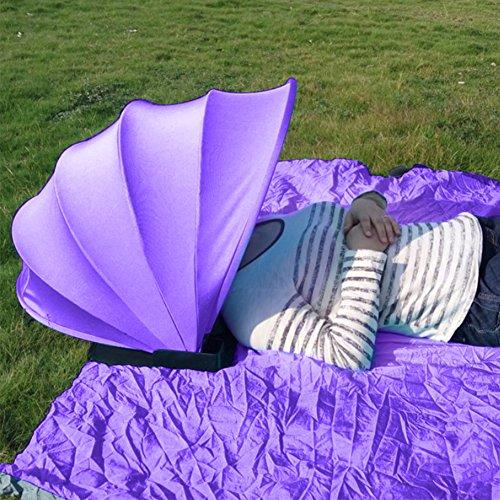CampHiking® Beach Camping Sun Schaukeldach Outdoor Strand/Camping Sun Zelt Kissen, Pop Up Persönlichen Sun Schutz/Shelter, violett (Sun Kissen)