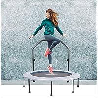 Preisvergleich für Wly&Home Klappbares Trampolin Für Den Haushalt, Indoor-Trampolin Für Erwachsene, Outdoor-Fitness-Bounce-Bett, Platzsparend, mit Armlehnen 48 Zoll