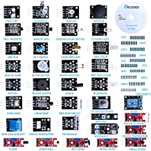ELEGOO 37-in-1 Sensor Pack Sensor Module Kit With Free PDF Tutorial for Arduino UNO, Raspberry Pi, MEGA, NANO, Arduino Sensor Kit