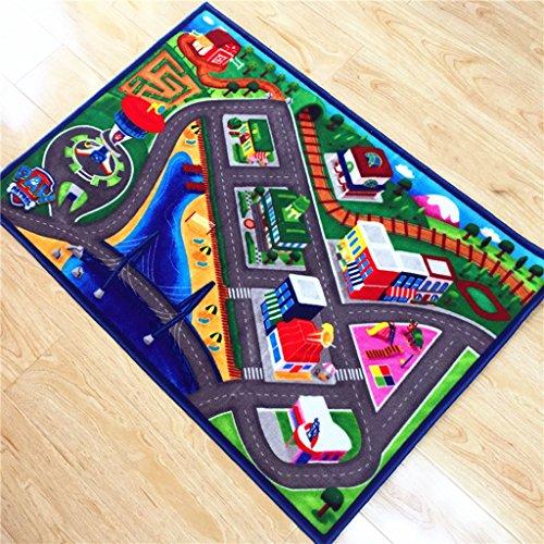 DSADDSD *Wohnzimmer teppiche Kinder Car Track Teppiche Kinder Teppich (80 * 120cm) * Geometrischer Teppich (Farbe : B, größe : 80 * 120cm)