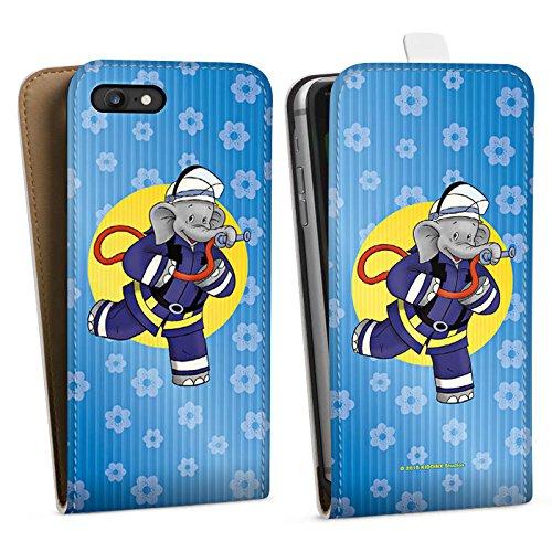 Apple iPhone X Silikon Hülle Case Schutzhülle Benjamin Blümchen Fanartikel Merchandise Feuerwehrmann Downflip Tasche weiß