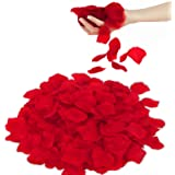 3000 Pezzi Petali di Rosa Finti Rossi, San Valentino Decorazioni Tavolo & Letto, Romantiche Decorazioni per Matrimonio, Fidan