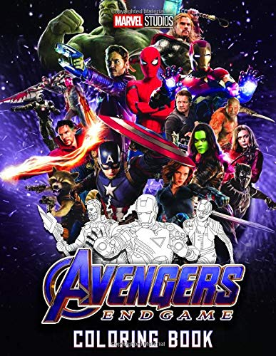 Preisvergleich Produktbild Marvel Avengers Endgame Coloring Book: Marvel Avengers End Game Coloring Book With Premium Images (Unofficial)
