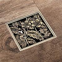 Drenaje de piso de cobre en el suelo del baño antiguo gran caudal de drenaje defección del insecto de bronce