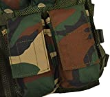 Nitehawk Kids/Childrens Tactical MOLLE Combat Assault Vest Army/Military/Police, Black, Camo