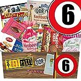 Süßigkeiten Box | Ostalgie Geschenkset | Zahl 6 | Jubiläum 6