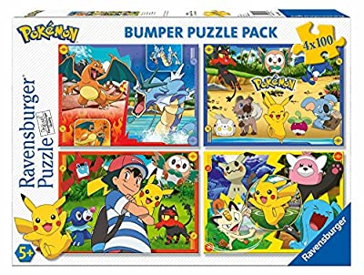 Ravensburger- Puzzle 4 x 100 Piezas Bumper Pack, Pokémon (6929) de Ravensburger