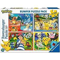 Ravensburger - Puzzle 4 x 100 Piezas Bumper Pack, Pokémon (6929)