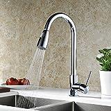 Homdox 360° Drehbar Armatur Küchenarmatur Wasserhahn für Waschbecken Küche Spüle