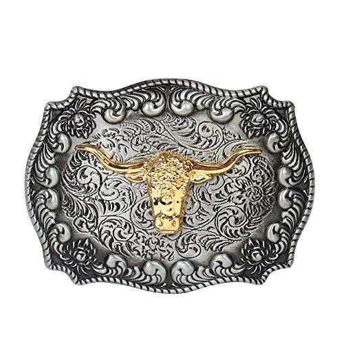 long-horn-bull-cowboy-western-belt-buckle