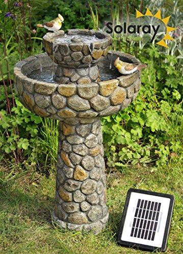Fontaine d'Extérieur / Bain Oiseau Coupelle Effet Pierre