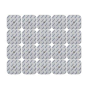 20 Elektroden Pads 5x5cm für Compex-Geräte mit Druckknopf-Anschluss.