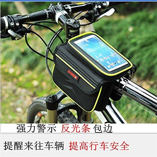 FAN4ZAME Fahrradtasche Berg Vorderachse Reißverschluss Wasserdicht Erhöhen Sie Die Leuchtende Rücklicht Charter Auto Paket Tail Wrap Fahrradverleih Ausstattung Hard shell reflector truck bag