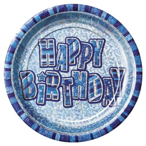 23cm-prism-glitz-blue-birthday-party-plates-pack-of-8