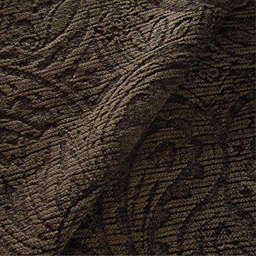 Berkeley Sofa (Berkeley 'Sedge Paisley': Grün-Braun Chenille Polstermöbel Sofa Kissen Flammschutzmittel Stoff Material aus loome Stoffe, Berkeley 'Sedge Paisley' : Green-Brown, 10 x 14 cm sample)