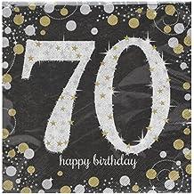Partyservietten Geburtstag Servietten Radiant Birthday 70 16 Stk