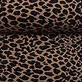 Stoff Jersey Baumwolljersey Vera Leopardenmuster beige 50cm x 160cm Stoff zum nähen Meterware