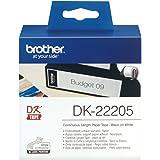Brother DK-22205 Endlosetiketten (Papier, 62 mm breit, 30,48 m lang, für Brother QL-Etikettendrucker)