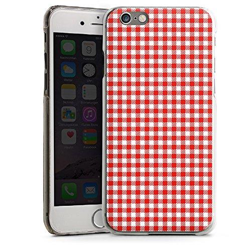 Apple iPhone 5s Housse Étui Protection Coque Carreau Rouge Motif CasDur transparent