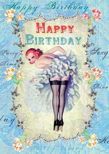 Happy Birthday Ballerina di Cancan biglietto d'auguri di Mimi