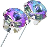 pewterhooter® Classic Collection Sterling Silver Crystal Stud Earrings. Made with sparkling Starlight crystal stones…