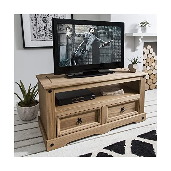 Flat Screen Tv Unit Tv Stand Corona Mexican Pine Tv Table 2