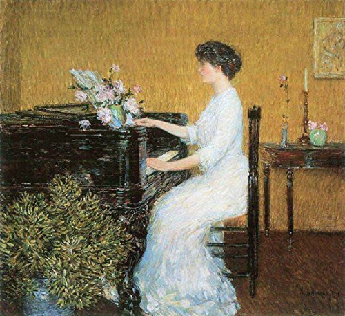 Das Museum Outlet - AT THE PIANO by Hassam - Poster (61 x 45,7 cm)