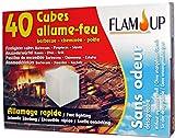Flam'Up 8240 Set de 40 Cubes Allume-feu sans odeur