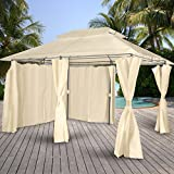 Miadomodo Garden Pavilion Gazebo Patio Canopy Marquee Party Tent Shelter (Beige)