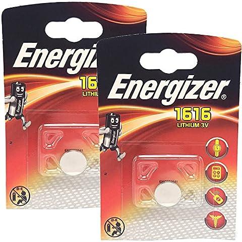ENERGIZER CR1616 LOT DE 2 PILES AU LITHIUM 3V