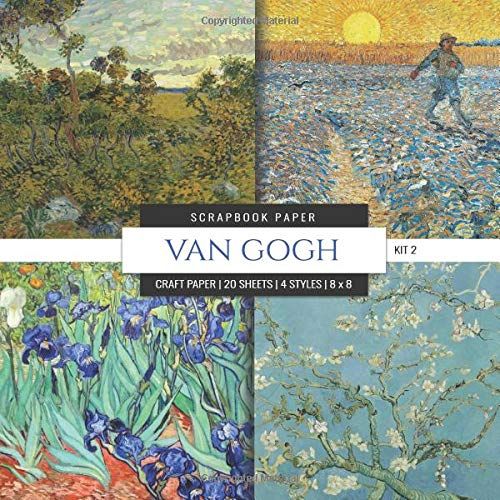 Van Gogh Scrapbook Paper Kit 2: 8x8 Decorative Craft Paper, Designer Specialty Paper for Scrapbooking, Flowers, Floral, Scenic Landscape, Vintage Themed Background Papers (Multi-Purpose Paper, Band 9) -